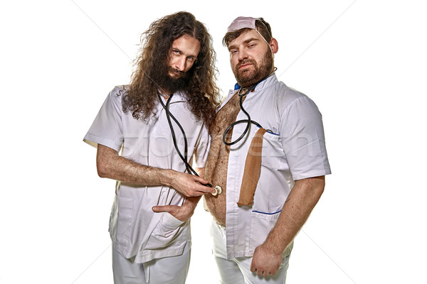 Two hilarious doctors playing fools Stock photo © majdansky