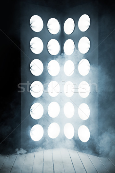 Mystic interior, wooden stage and a light column Stock photo © majdansky