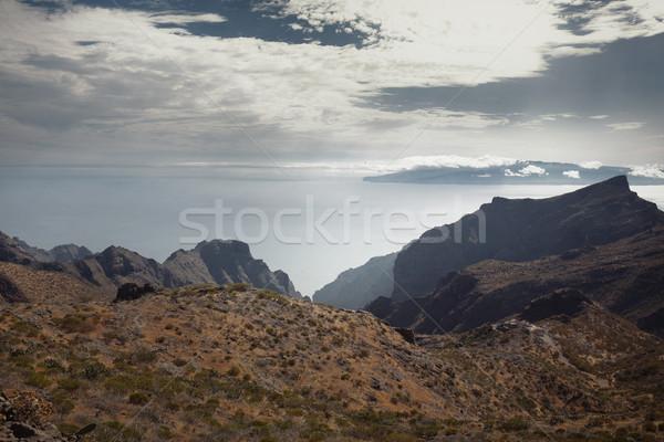 Mooie bergen hoog zon Blauw Stockfoto © majdansky