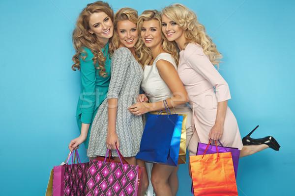 Groupe blond sourire sexy Photo stock © majdansky