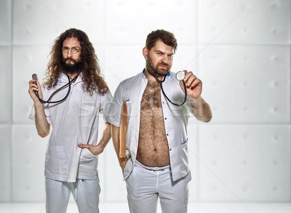 Portret twee artsen ziekenhuis kliniek medische Stockfoto © majdansky