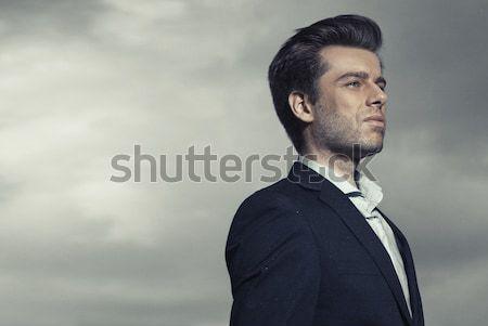 Portret ernstig knap manager knappe man man Stockfoto © majdansky