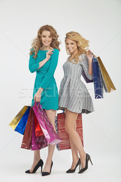 Two sexy girlfreinds on the shopping Stock photo © majdansky