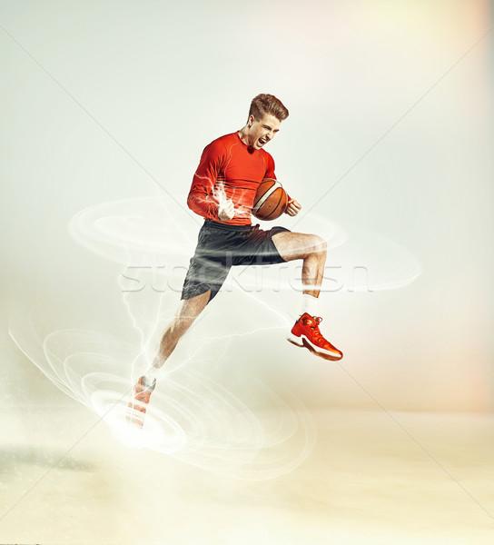 Action comme ouragan jeunes sport Photo stock © majdansky
