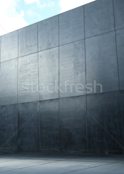 Image presenting a modern polish, concrete wall Stock photo © majdansky