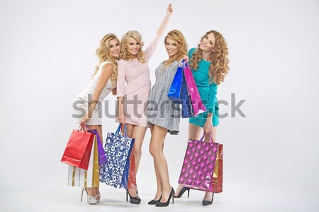 Alluring ladies and the spring sale Stock photo © majdansky