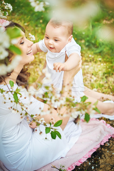 Bruna donna amato bambino baby Foto d'archivio © majdansky