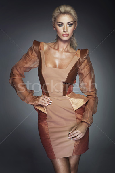 Portrait of the shapely blond woman Stock photo © majdansky