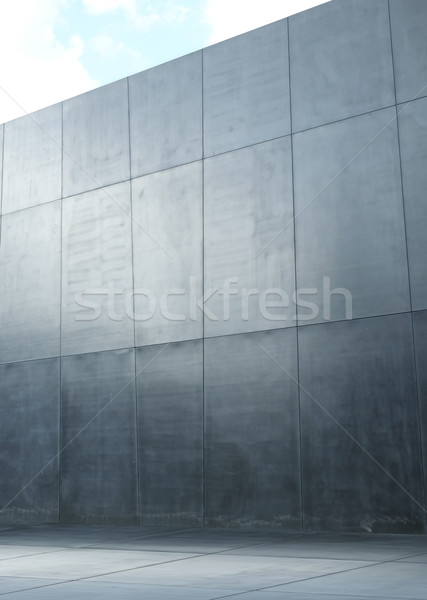 Image presenting a modern polish, concrete wall Stock photo © majdansky