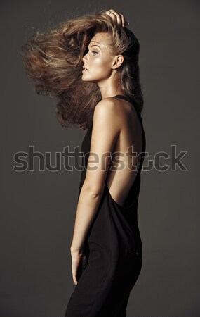 Blond mince dame visage Photo stock © majdansky
