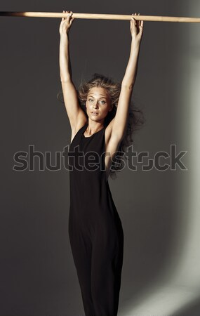 Portrait of a young blond acrobat Stock photo © majdansky