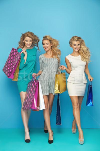 Pretty ladies enjoying shopping sales Stock photo © majdansky
