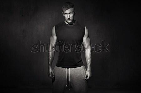 Tall, muscular man during the training Stock photo © majdansky