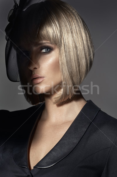 Glamour portrait of a beautiful woman  Stock photo © majdansky