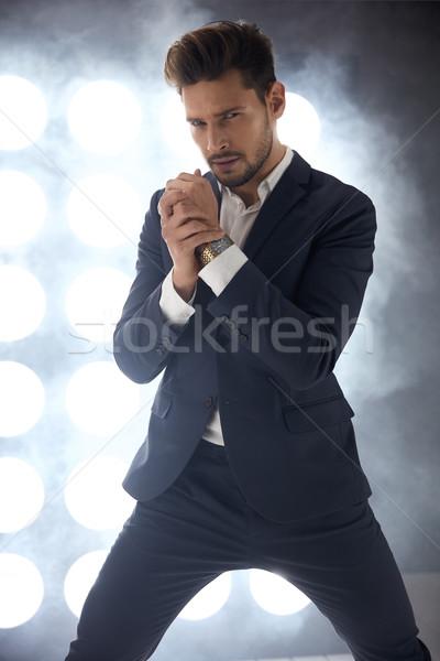 Portrait élégant élégante homme classique Photo stock © majdansky