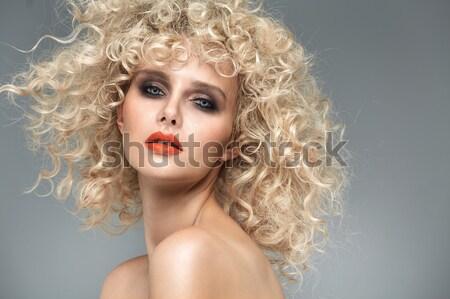 Portret glamour blond dame vrouw Stockfoto © majdansky