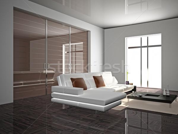 Sofa kamer moderne huis licht ontwerp Stockfoto © maknt