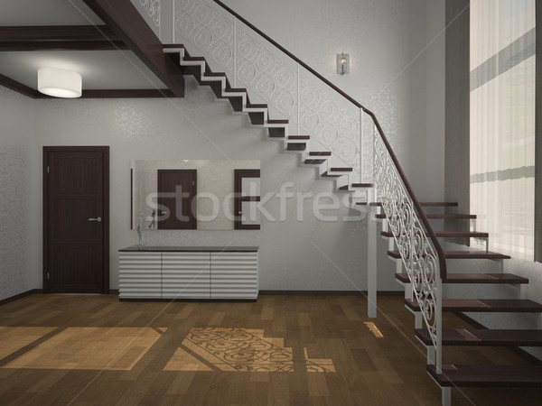 staircase in the lobby 3d Stock photo © maknt