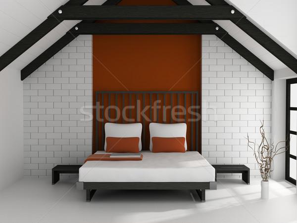 Quarto moderno interior quarto 3D casa Foto stock © maknt