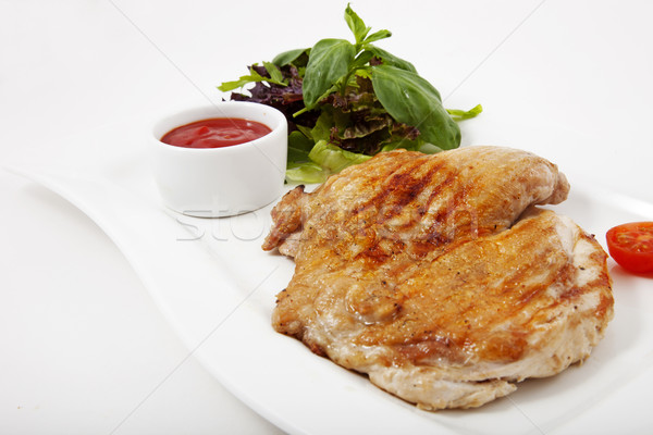 Meat with vegetables Stock photo © maknt