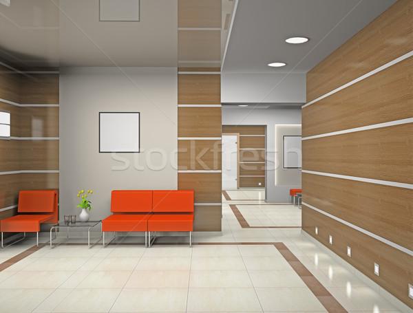 зале современных служба 3D бизнеса строительство Сток-фото © maknt