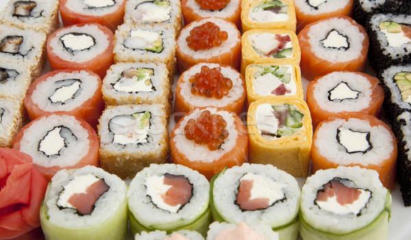 суши фото рыбы ресторан рот Сток-фото © maknt