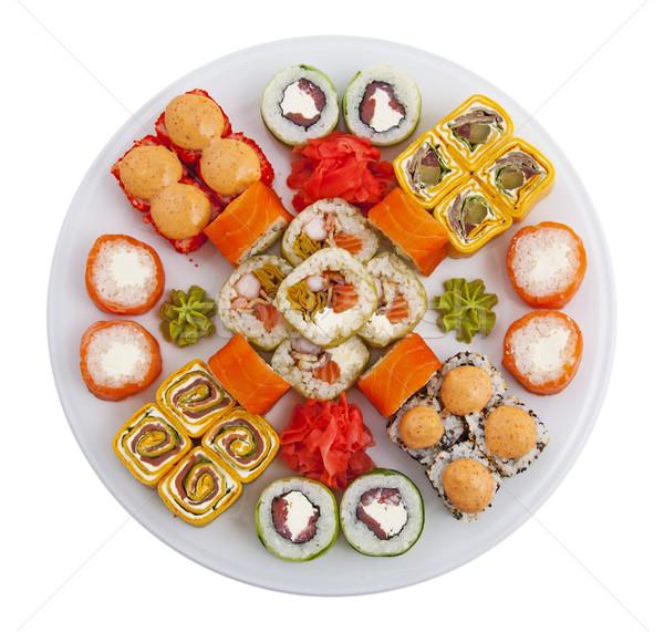 Szusi fotó tekert hal tenger étterem Stock fotó © maknt