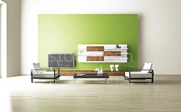 Living room 3D Stock photo © maknt
