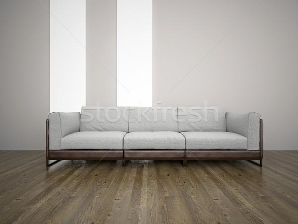 Sofa kamer 3D afbeelding bank Stockfoto © maknt