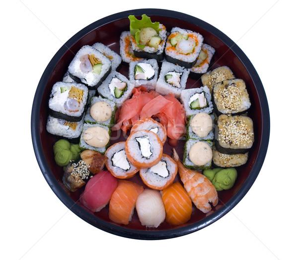 суши фото рыбы фон обеда Сток-фото © maknt