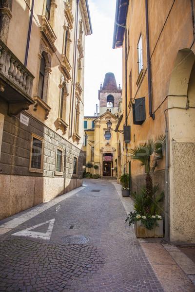 イタリア語 通り 写真 家 旅行 建物 ストックフォト © maknt