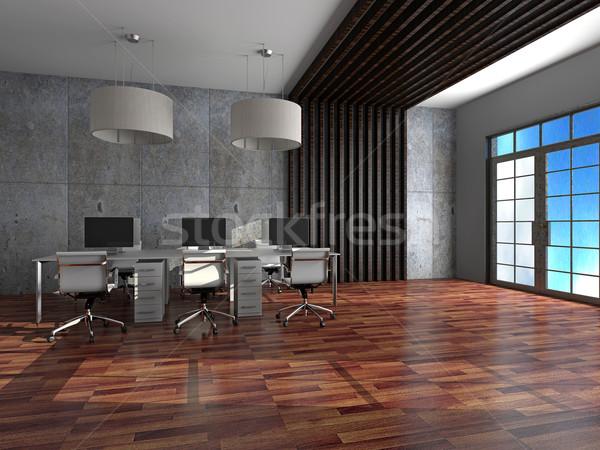 オフィス インテリア 3D レンダリング 現代 春 ストックフォト © maknt