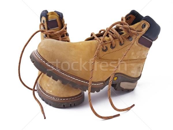 Csizma fotó munka ipar állás cipő Stock fotó © maknt