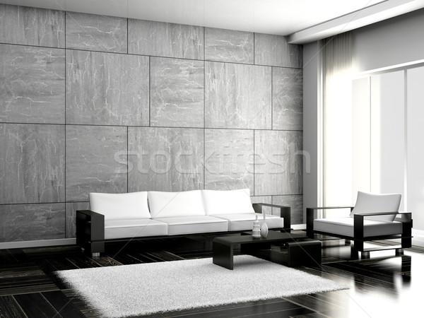 sofa in the room Stock photo © maknt