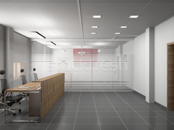 Kantoor interieur moderne 3D voorjaar venster Stockfoto © maknt