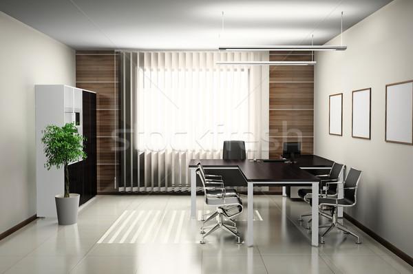 オフィス インテリア 現代 3D 春 デザイン ストックフォト © maknt