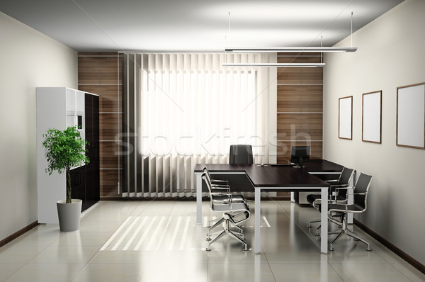 Kantoor interieur moderne 3D voorjaar ontwerp Stockfoto © maknt