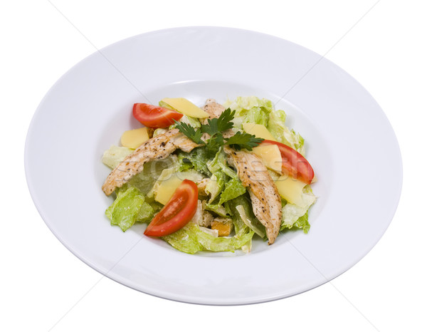 Stockfoto: Salade · plaat · foto · voedsel · blad · groene