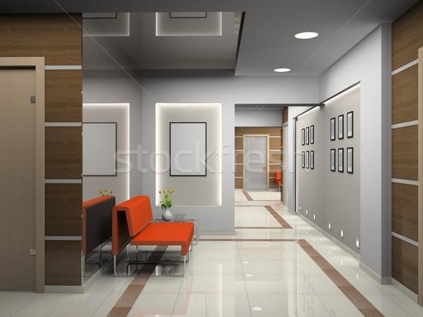 Sala moderna oficina 3D negocios construcción Foto stock © maknt