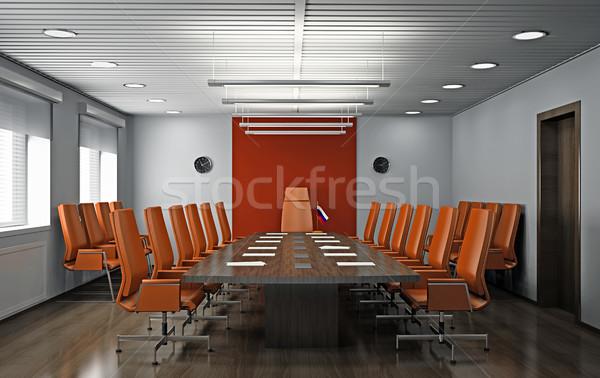 Bureau intérieur modernes 3D printemps fenêtre Photo stock © maknt