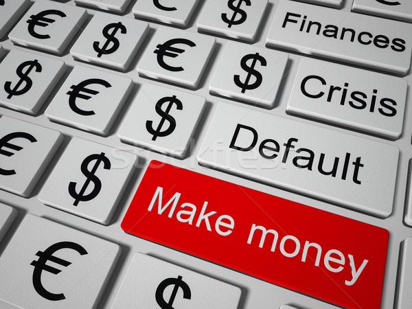 деньги ключевые клавиатура кнопки бизнеса Сток-фото © maknt
