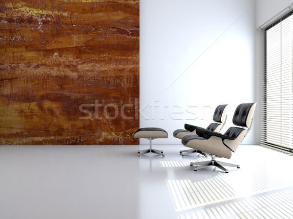 Fauteuil lege interieur 3D afbeelding Stockfoto © maknt