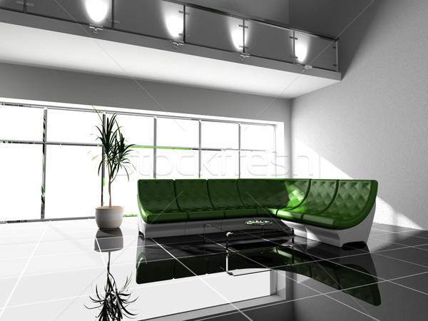 Woonkamer moderne interieur 3D huis licht Stockfoto © maknt