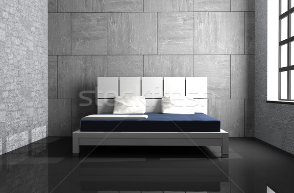 Slaapkamer moderne interieur kamer 3D huis Stockfoto © maknt