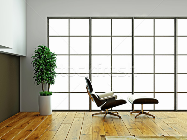 Stoel lege interieur 3D afbeelding Stockfoto © maknt
