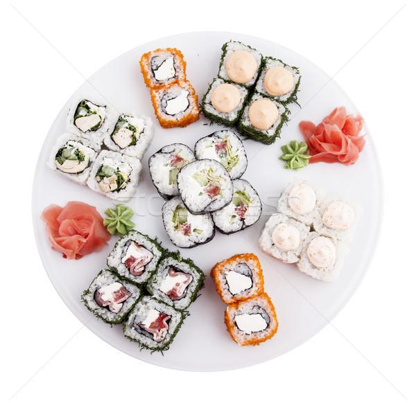 Sushi foto vis zee restaurant Stockfoto © maknt