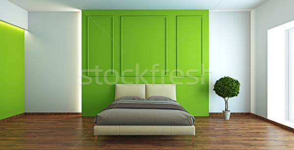 Moderne interieur slaapkamer 3D kamer Stockfoto © maknt