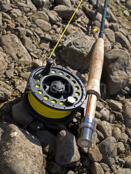 Fishing-rod for fly-fishing Stock photo © maknt