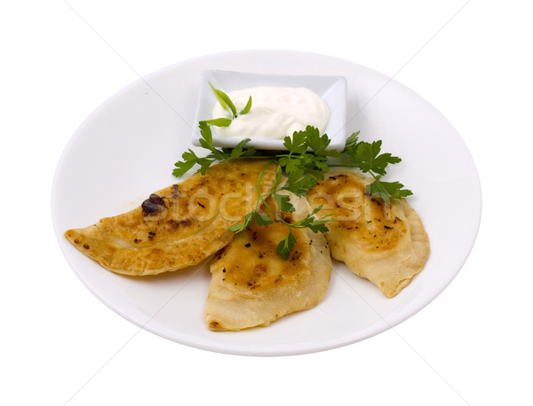Pelmeni on a plate Stock photo © maknt