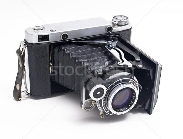 Oude foto camera foto mode film zwarte Stockfoto © maknt